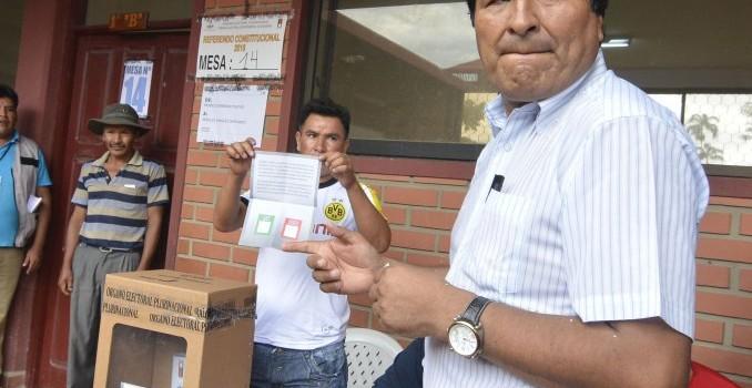 El pueblo de Bolivia dijo «NO» a la reelección de Evo Morales