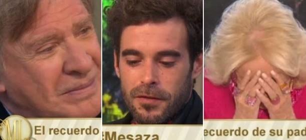 Nicolás Cabré hizo emocionar a la mesa de Mirtha Legrand