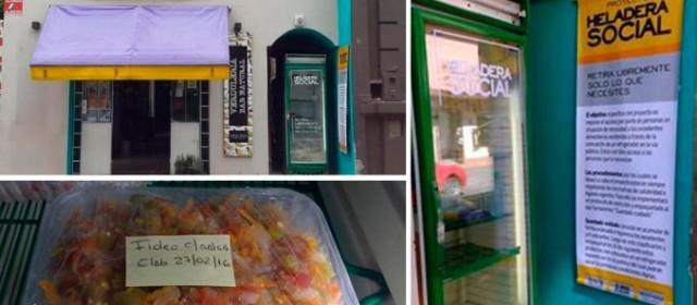 """Tres amigos tucumanos lanzaron la compaña """"heladera social"""" para ayudar a los más necesitados"""