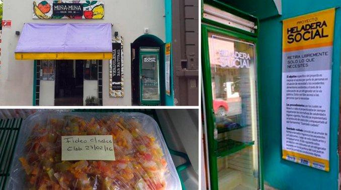 Tres amigos tucumanos lanzaron la compaña «heladera social» para ayudar a los más necesitados