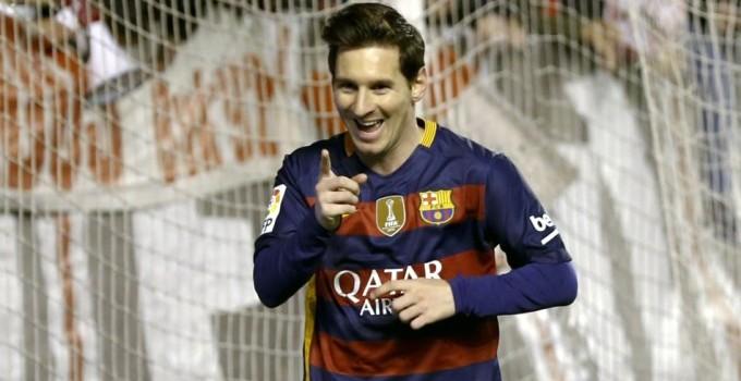 Con tres goles del mejor del mundo, el Barsa goleó al Rayo Vallecano