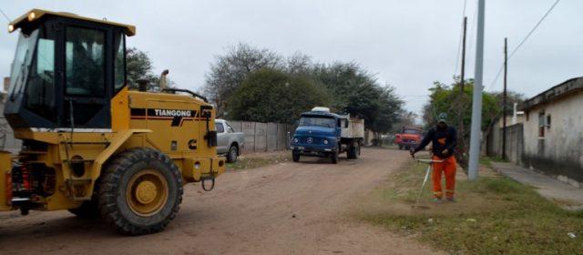 El municipio realizó un gran despliegue de limpieza general en Circunvalación y Solís