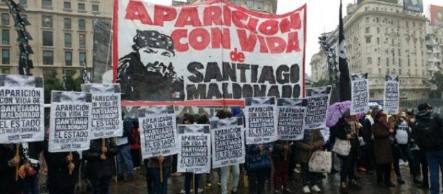 Marcha a Plaza de Mayo por la inmediata aparición de Santiago Maldonado