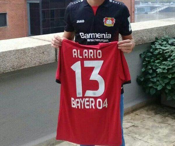 Lucas Alario firmó su contrato por cinco años con el Bayer Leverkusen
