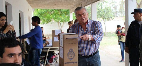 El Intendente Infante satisfecho con el inicio del acto eleccionario