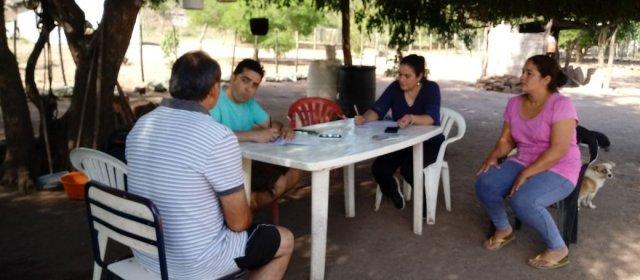 Ojo de Agua: Agricultores familiares concretaron distintas actividades productivas junto  a los técnicos
