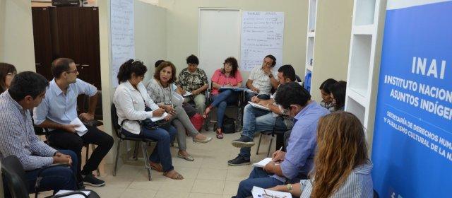 MINISTRA NASSIF SE REÚNE CON LAS AUTORIDADES DE LOS PUEBLOS ORIGINARIOS