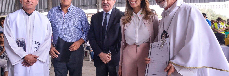 La ex gobernadora y actual diputada  nacional, Dra. Claudia de Zamora  encabezo la ceremonia de la Mama Antula