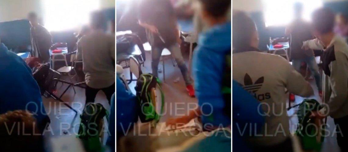 Brutal pelea en un colegio de Pilar: un chico entró con un cuchillo al aula