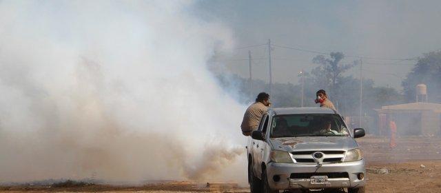 La comuna continúa con la fumigación en barrios de la ciudad