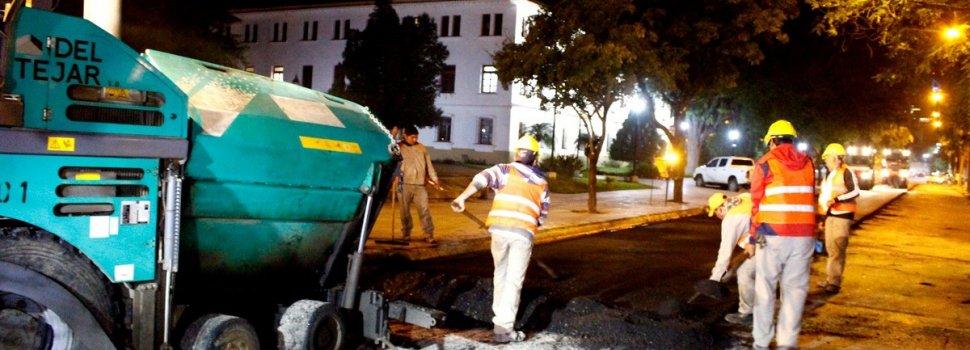 Concluye una etapa de trabajos de mejoras en las calles céntrica de la capital