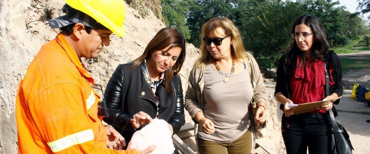 La intendente Fuentes visitó la obra de puesta en valor del Cristo Redentor
