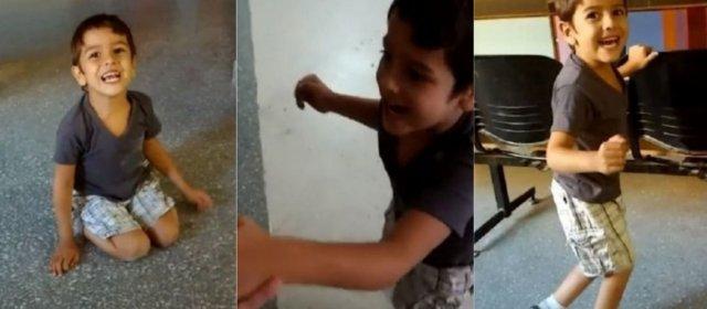 Tiene parálisis cerebral y a los 5 años pudo dar sus primeros pasos