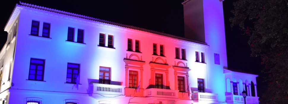Casa de Gobierno iluminada
