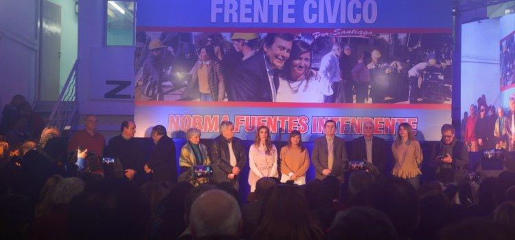 El Frente Cívico por Santiago presentó a la Ing.  Norma Fuentes como candidata de la Capital