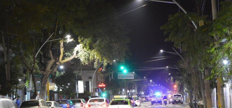 Norma Fuentes habilitó la nueva iluminación Led de Avenida Moreno