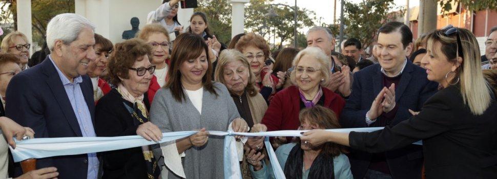 Zamora y Fuentes inauguraron la remodelación total de la plaza Belgrano