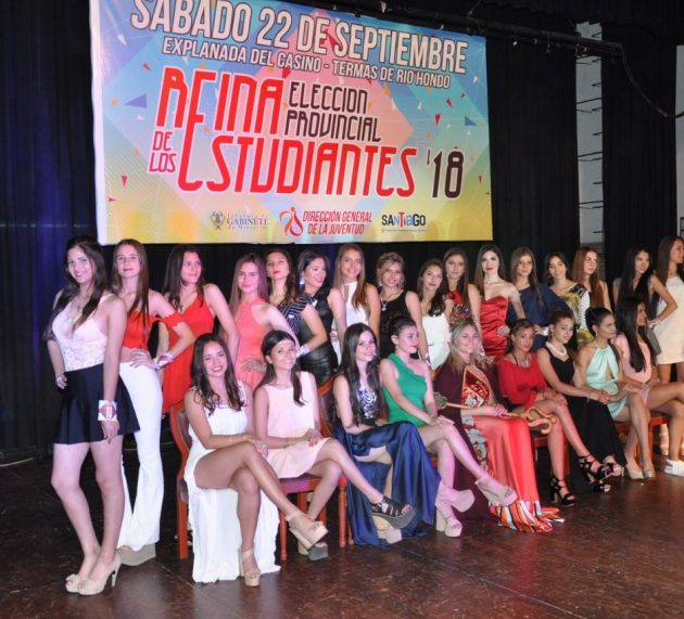 Preselección de candidatas para elección  de la Reina Provincial de los Estudiantes