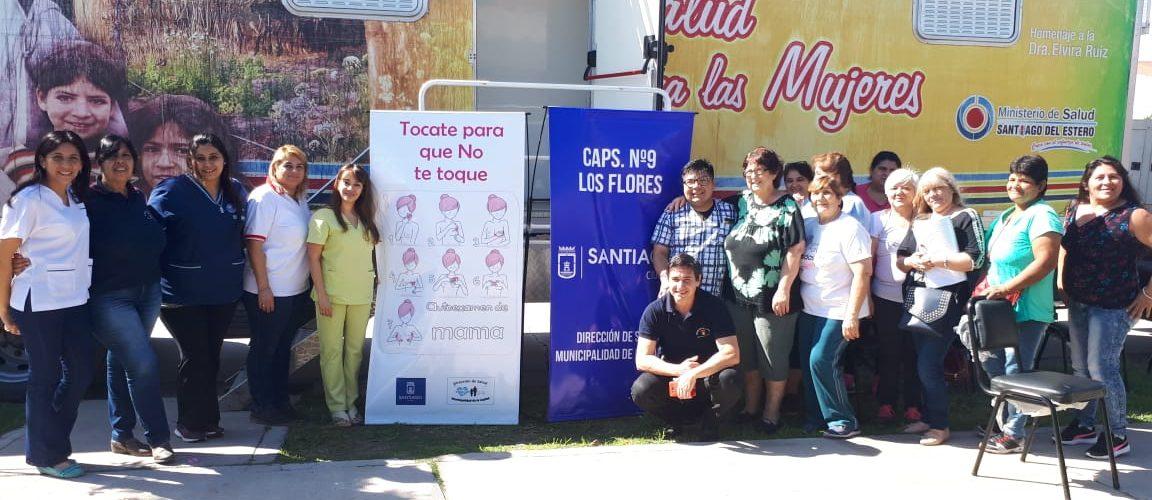 Trabajo conjunto de provincia y municipio en salud en el barrio Los Flores