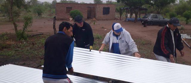 Asistencia a familias afectadas  por el fenómeno meteorológico