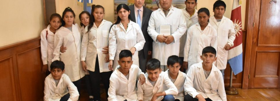 Alumnos del interior en Casa de Gobierno