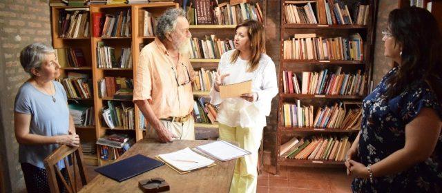 """La Intendente Fuentes participó de los 10 años de la Biblioteca """"Amalio Olmos Castro"""""""