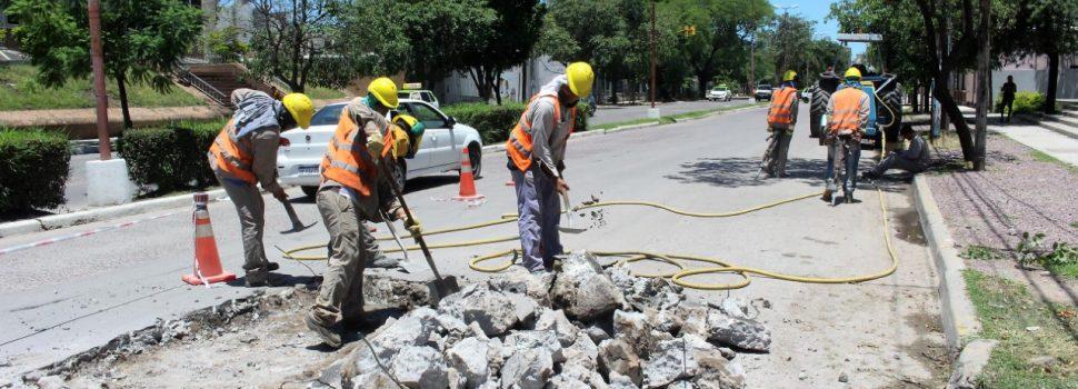 Continúa la repavimentación de la avenida Belgrano hacia el norte
