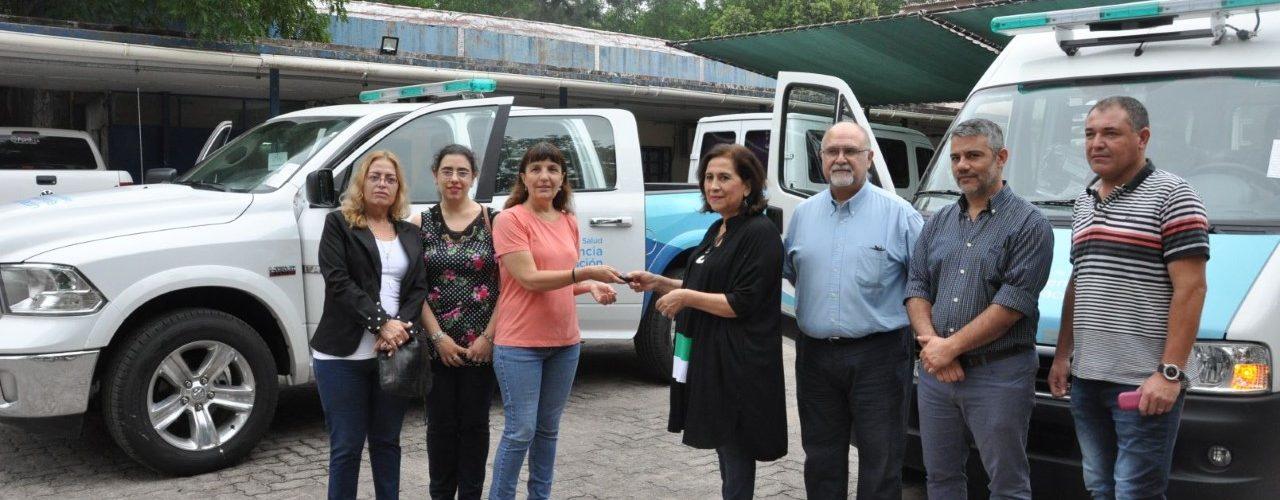 Ministra Nassif recibió vehículos para fortalecer  el trabajo de los equipos de salud en la provincia