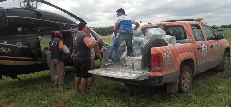 El gobierno asistió a las familias santiagueñas afectadas por el temporal