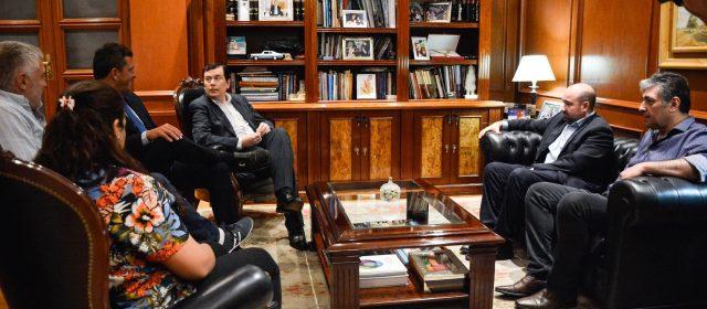 Visita protocolar del Dr. Sergio Massa en Casa de Gobierno