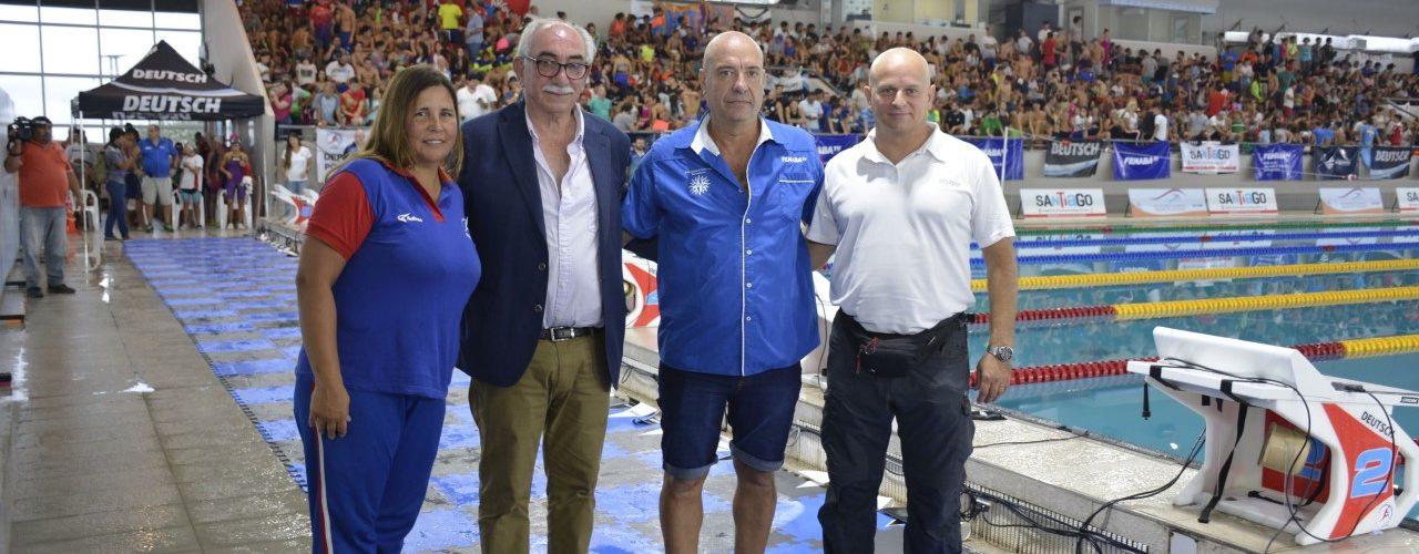 Apertura oficial del Campeonato República de  Cadetes y Juveniles en el Natatorio Olímpico