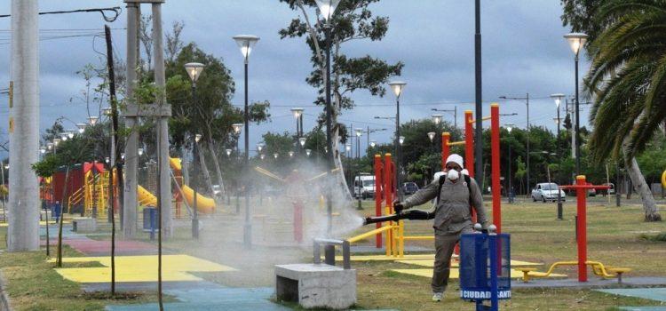 Está en marcha el tercer cronograma de fumigación municipal por los barrios