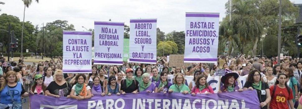 Comenzaron las masivas marchas por el Día Internacional de la Mujer en todo el país