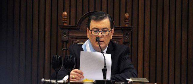 El gobernador Zamora brindo el mensaje anual y anunció obras
