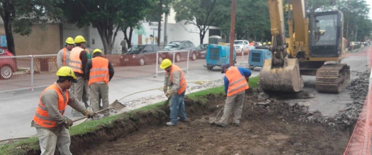 Avanzan las obras de mejoramiento de la avenida Belgrano norte