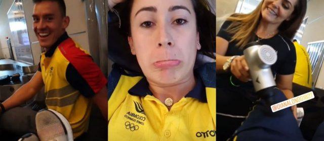 Mariana Pajón y la Selección colombiana de BMX fueron retenidos en su entrada al país