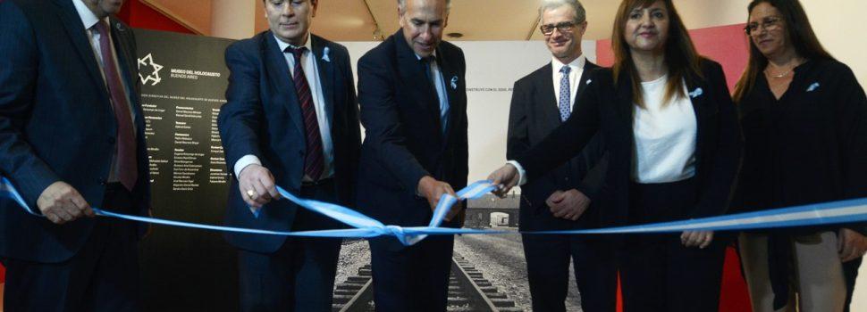 Con la presencia del Gobernador se inauguró la  exhibición del Museo del Holocausto en el CCB