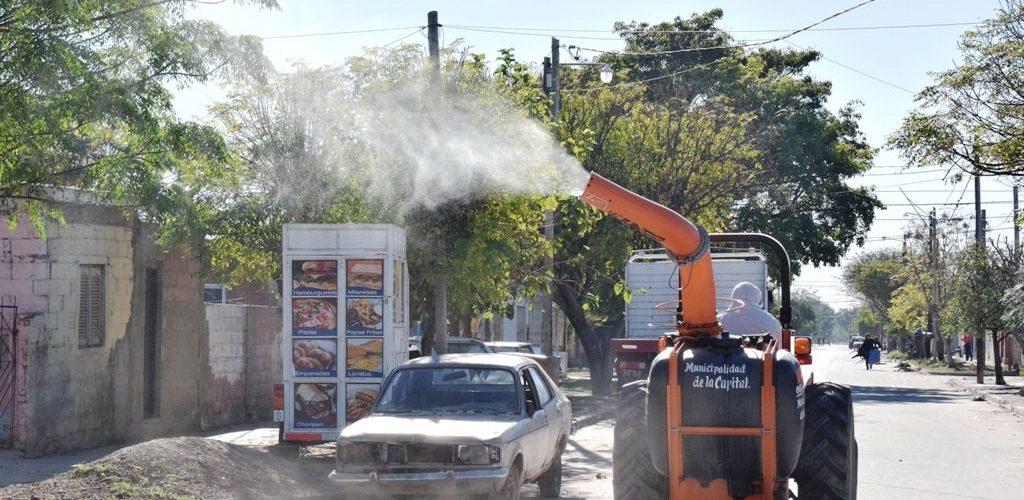 Avanza el cuarto cronograma de fumigación municipal en los barrio