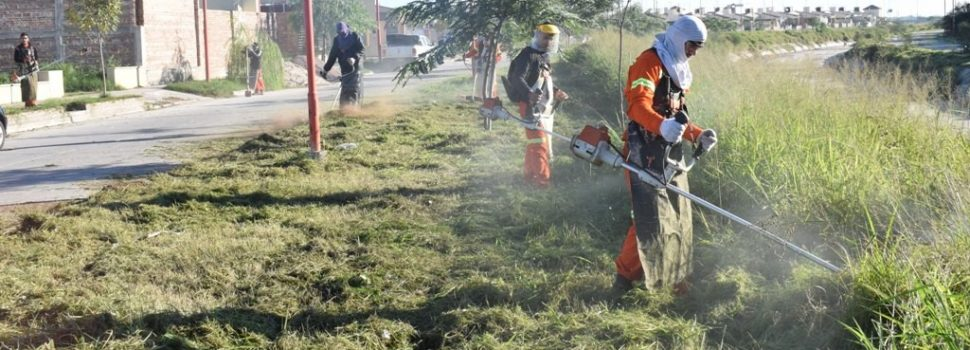Nuevo operativo de limpieza en los barrios Lomas del Golf y Los Lagos