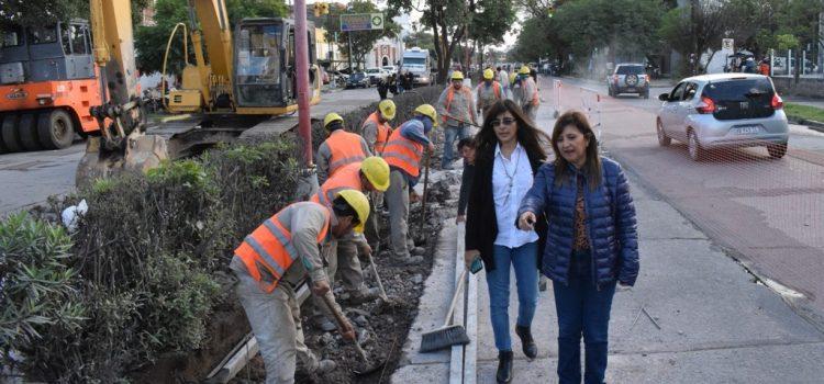 La Intendete destacó el adelanto de la obra de mejora en la avenida Belgrano norte