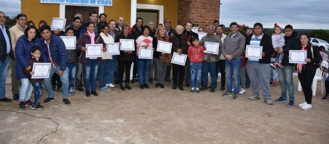 Más santiagueños del Dpto. Río  Hondo acceden a viviendas sociales