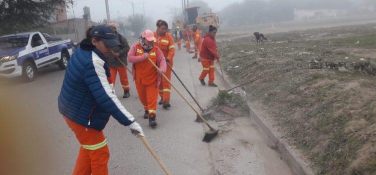 Continuaron los operativos especiales de limpieza en Bosco III y Juan Felipe Ibarra
