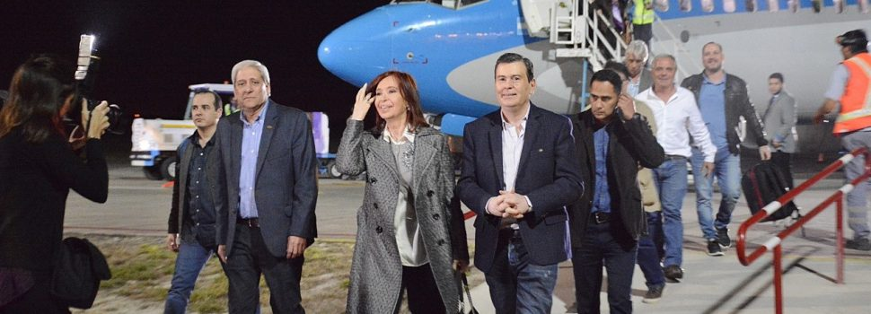 El gobernador recibió a la ex presidenta y  actual senadora Cristina Fernández de Kirchner