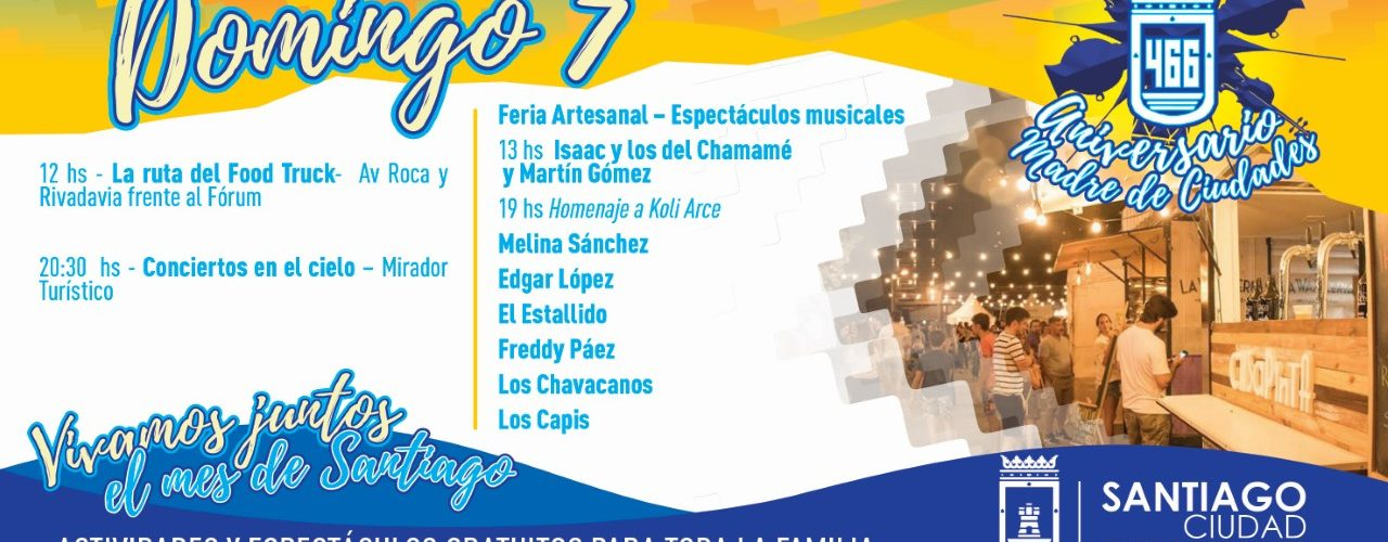 Este domingo continuarán las actividades por el mes de Santiago del Estero