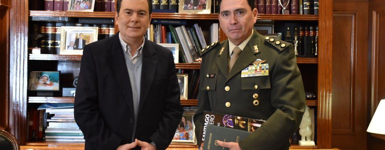 Delegado del Estado Mayor del Ejército  visitó de manera protocolar al Gobernador