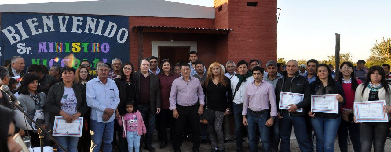Más de 100 viviendas sociales se entregaron  en la Invernada Sur, departamento Figueroa