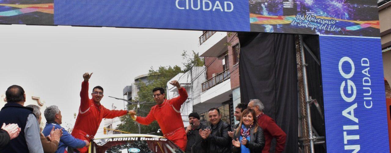 La intendente Fuentes largó la tercera fecha del Campeonato Santiagueño de Rally