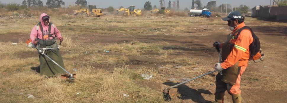 Fuertes tareas de erradicación de minibasurales en el Campo Contreras Ampliación