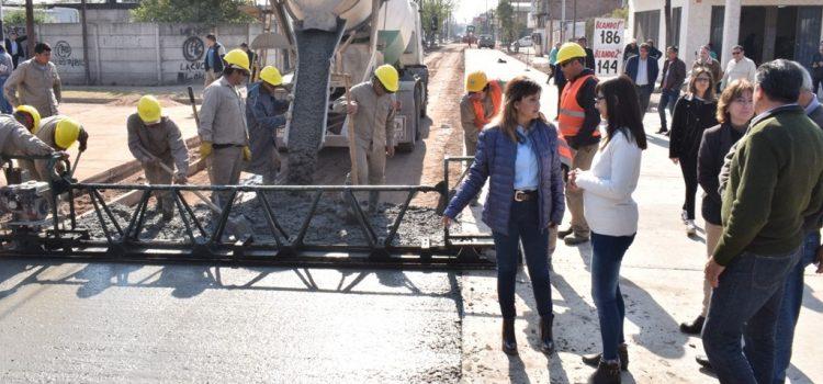 Fuentes destacó las mejoras viales que se realizan en el barrio San Martín