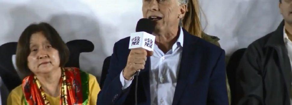 «¡Que escuche todo Corrientes!», pidió Macri en… Chaco